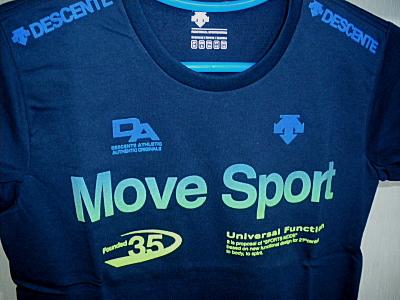 鈴木スポーツ デサント ムーブスポーツ tシャツ dat 5024 nvbl